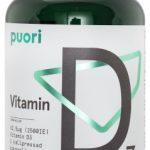 Puori vitamin D3 kosttillskott