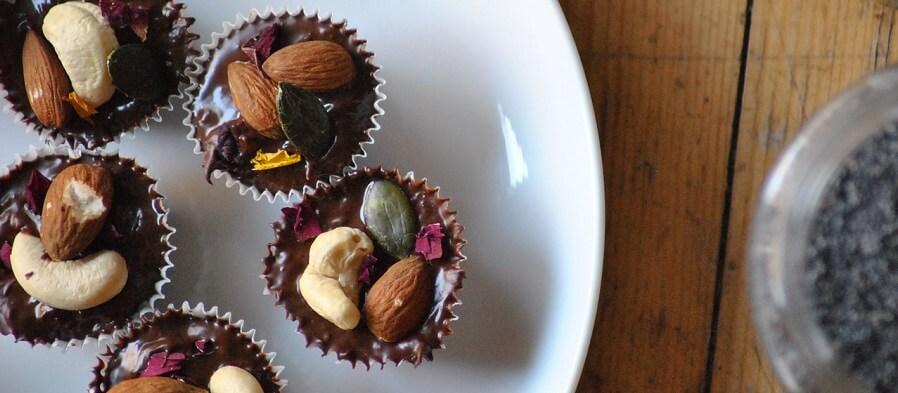 mörk choklad och nötter med citrulline